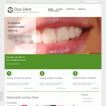 duodentkg.com at WI. Duo Dent   Stomatološko snabdevanje