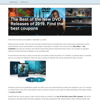 dvdactive com at WI  TOP 10 Best New DVD Releases of 2019