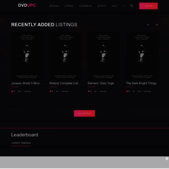 dvdupc com at WI  The Disc to Digital UPC List