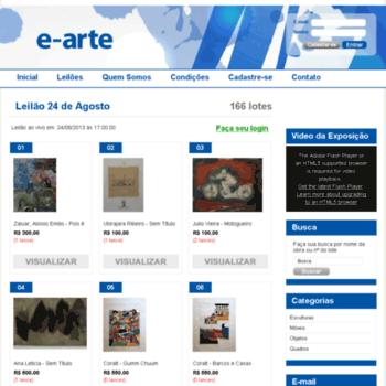 E-arteleiloes.com.br thumbnail