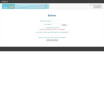 ead.umaza.edu.ar at WI. Umaza - Educación a Distancia: Entrar al sitio