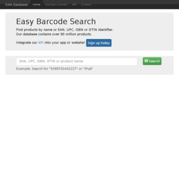ean-database info at WI  Barcode Database - Search by EAN