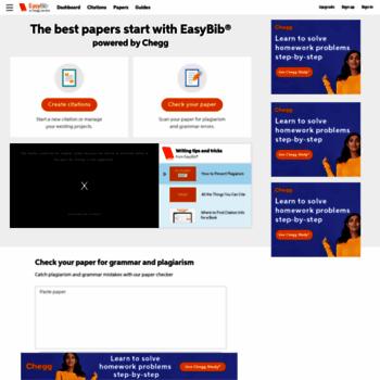Easybibcom At Wi Easybib Free Bibliography Generator Mla Apa