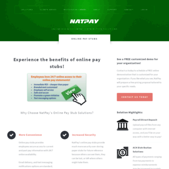 easystub com at WI  Online Pay Stubs - NatPay