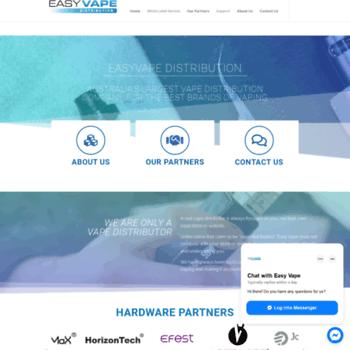 easyvape com au at WI  Easy Vape Distribution – Australia's Original