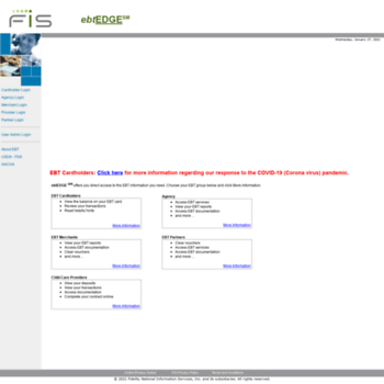 ebtedge com at WI  Government Solutions