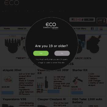 Eco-electroniccigarettes.com thumbnail