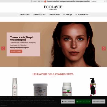 4ab52fe356c ecolavie.fr at WI. ECOLAVIE   vente à domicile cosmetique bio-vdi ...