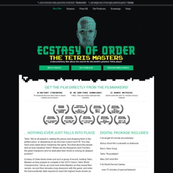 Ecstasyoforder Com At Wi Ecstasy Of Order The Tetris Masters