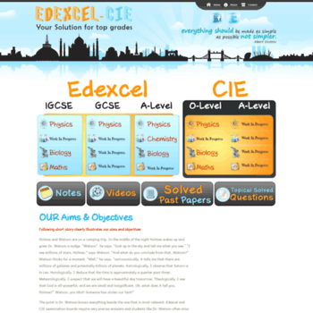edexcel-cie com at WI  One Stop Solution for IGCSE, GCSE, A