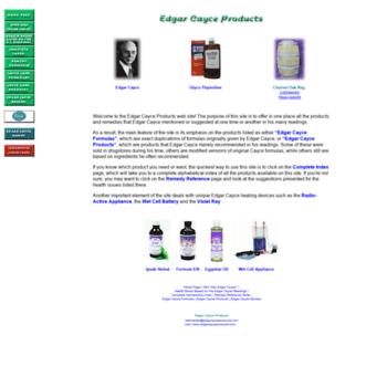 Edgarcayceproducts.com thumbnail