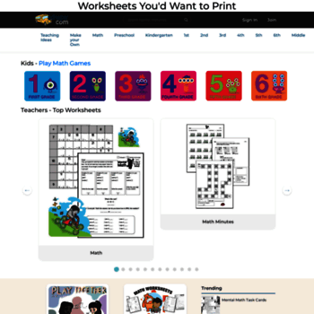 edhelper.com at WI. Your Free Worksheets You'd Actually Want ...