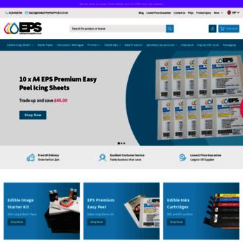 edibleprintsupplies.co.uk at wi. edible printing supplies including