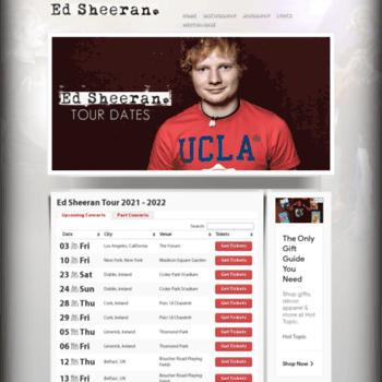Ed Sheeran 2020 Tour.Edsheerantourdates Com At Wi Ed Sheeran Tour 2019 2020