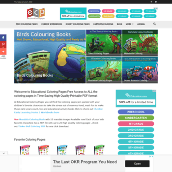 educationalcoloringpages.com at WI. Educational Fun Kids ...