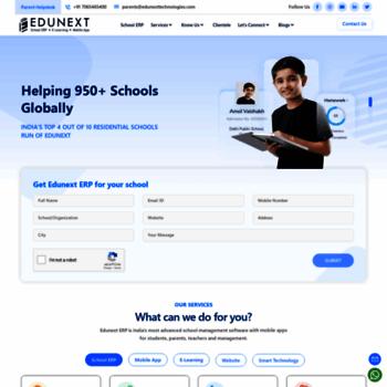 edunexttechnologies com at WI  School Management Software