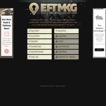 eftmkg com at WI  Escape From Tarkov • Map Key Guide