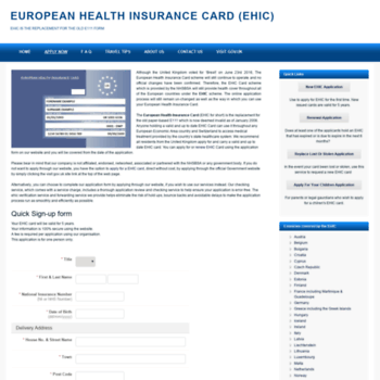 Renew Ehic Card Uk >> Ehic Cards Org Uk At Wi Ehic Apply Renewal European Health