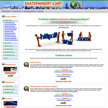 Веб сайт ekaterinburg-site.ru