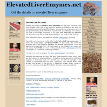 Elevatedliverenzymes.net thumbnail