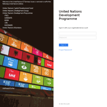 emailservices undp org at WI  Redirect to ADFS Login Page