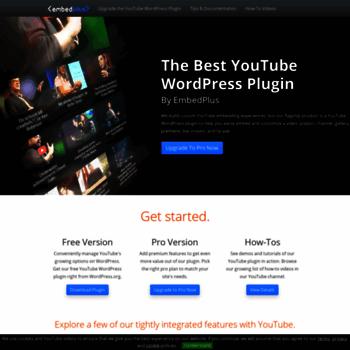 embedplus com at WI  YouTube WordPress Embed Plugin to