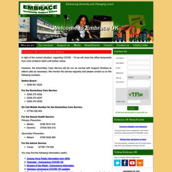 Embraceuk.org thumbnail