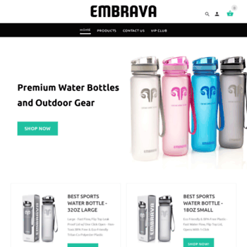 f9fbaeb4b6 embravasports.com at WI. Embrava Premium Sports Water Bottles ...