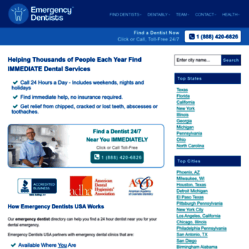 emergencydentistsusa com at WI  Emergency Dentist Near Me