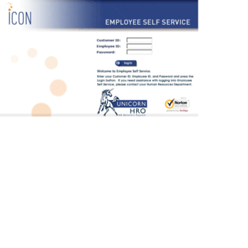 emp unicornhro com at WI  Employee Self-Service Login Page