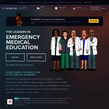 emrap org at WI  EM:RAP   Emergency medicine reviews and
