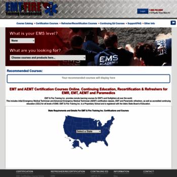 emtfiretraining com at WI  All EMT Certification Courses