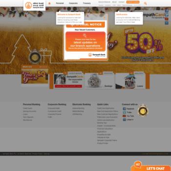 emts sampath lk at WI  Sampath Bank PLC | Online Banking
