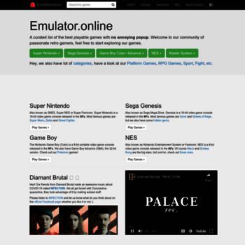 emulator online at WI  Emulator online | Play retro games online