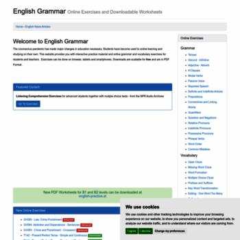 english grammar online exercises