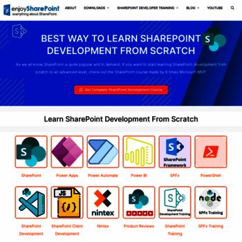 enjoysharepoint com at WI  FREE SharePoint Online Training