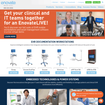 enovatemedical com at WI  Point of Care EHR Workstations