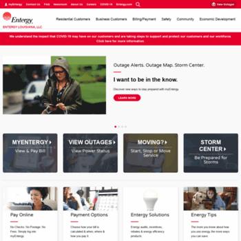 entergylouisiana com at WI  Entergy Louisiana | We Power Life