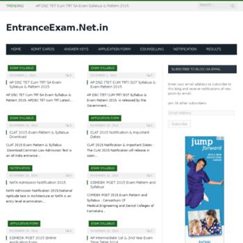 Entranceexam.net.in thumbnail