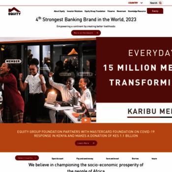 Веб сайт equitygroupholdings.com