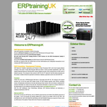 erptraininguk net at WI  ERPtrainingUK - From $ 8 25/Month