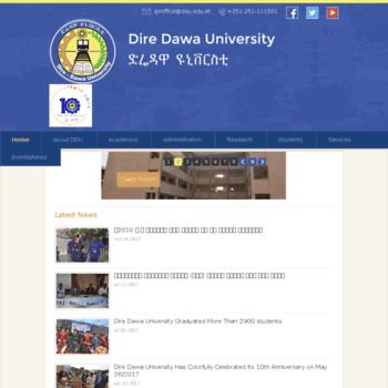 estudent ddu edu et at WI  Dire Dawa University – | Official