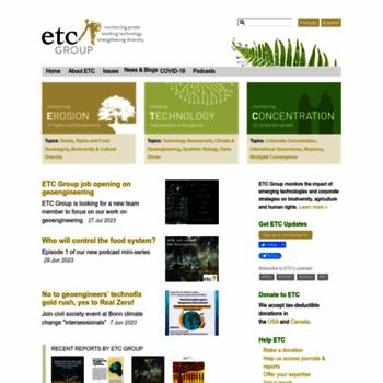 Etcgroup.org thumbnail