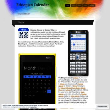Ethiopiancalendar.wordpress.com thumbnail