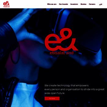 etisalat com at WI  Etisalat -