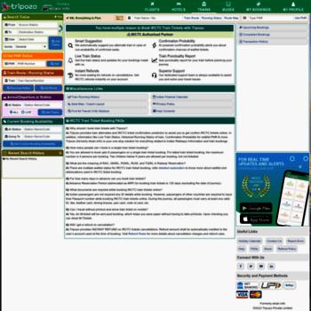 etrain info at WI  Indian Railways Reservation Enquiry, PNR
