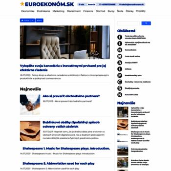 Euroekonom.sk thumbnail