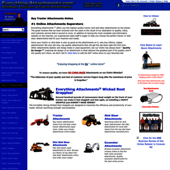 everythingattachments com at WI  Tractor Attachments And
