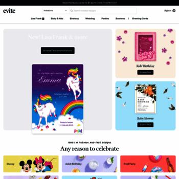 Evite Com At Wi Free Online Invitations Premium Cards And