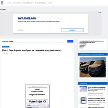 Exemple Page De Garde Stagepfe Com At Wi Docx Page De